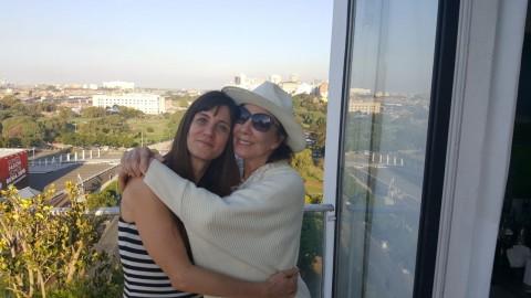 Nora Moseinco junto a Graciela Borges